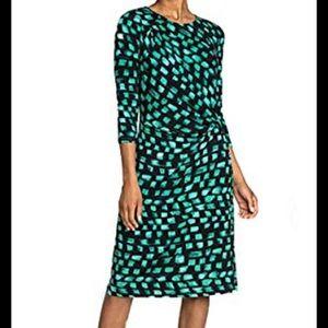 Nic+Zoe green light bright jade twist dress s NWT